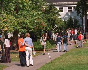 9/11/00-CONCORD- Students enjoying breaktime outdoors at Concord Academy where they returned to classes last week. Library Tag 09242000 northwest weekly