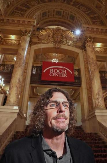 Ernie Boch Jr. at the announcement of the Boch family sponsorship the of Wang and Schubert theaters.
