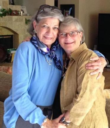 Debra Samuels (right) with her mother, Rona Greenberg.