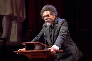 Oct. 6, 2016 - Author Cornel West at the WEB DuBois medal ceremony in Cambridge, Mass. Photo Credit: Justin Saglio for the Boston Globe. Section: Arts. Slug: 07namesGrierNorman.