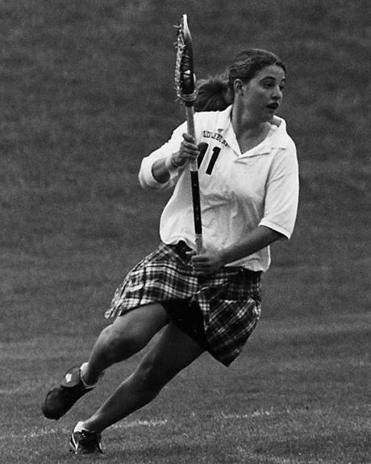 Amy DiAdamo Foster played lacrosse for Middlebury College, where she led the team to a national championship in 1997. She set records at the school that still stand.