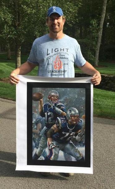 Matt Light Displays The Limited Edition Brian Fox Canvas Print That The  Lucky Raffle Winner Will. Light Foundation