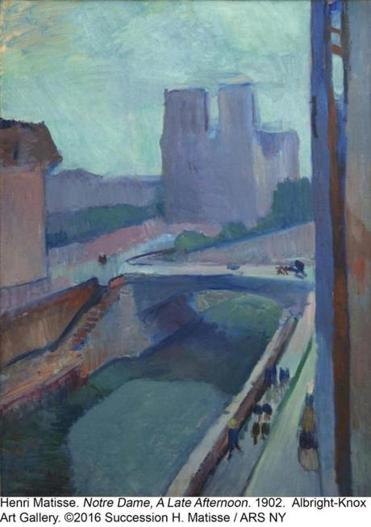 "Henri Matisse's ""Notre-Dame, Late Afternoon"" from 1902."