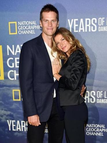"Tom Brady and Gisele Bundchen at the premiere of National Geographic Channel's, ""Years of Living Dangerously"" in September."