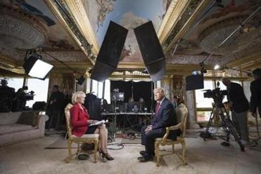 "Lesley Stahl interviewed Donald Trump on ""60 Minutes."""