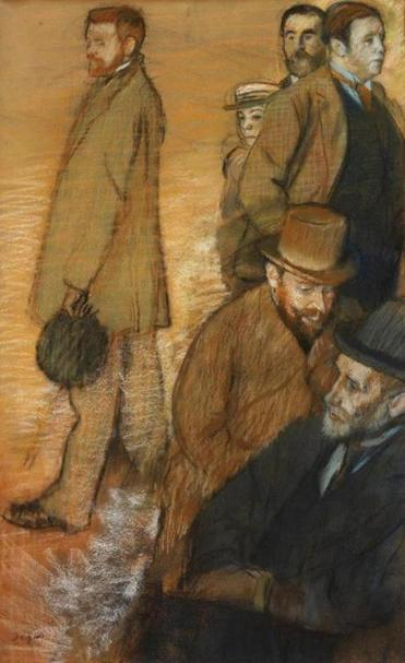 "Edgar Degas's ""Six Friends at Dieppe"" is part of ""Inventing Impressionism"" at the RISD Museum of Art."