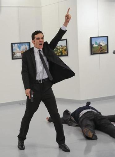 Image result for Russian Ambassador to turkey was assassinated