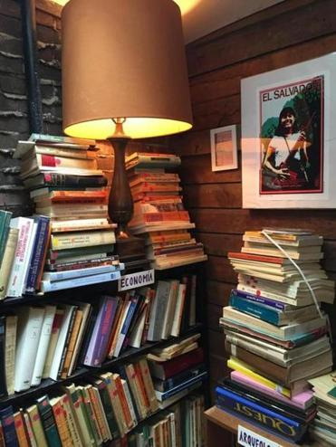 A selection of reading material at Librería Donceles in New York.
