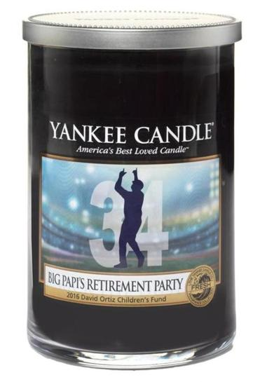 22names - Yankee Candle has put out a limited edition Big Papi Retirement Party candle. (Yankee Candle)