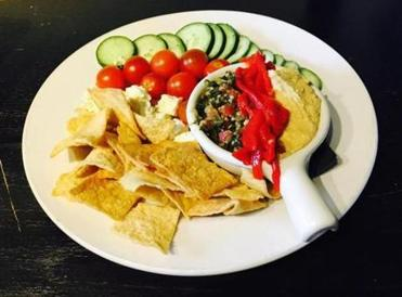 xxxodine -- Hummus tabouli appetizer at Dillon's Local in Plymouth, Mass. (Dillon's Local)