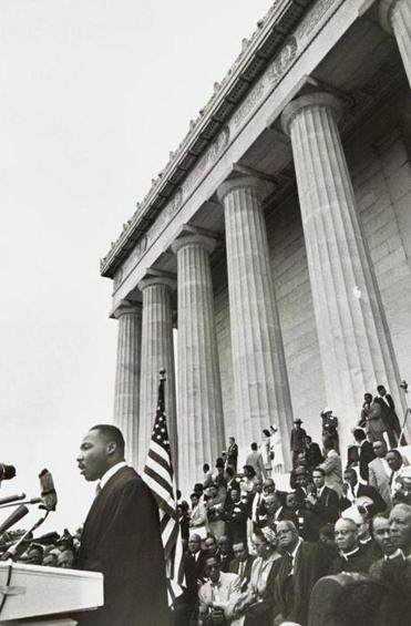 Lee Friedlander's photo of Martin Luther King Jr. at the 1957 Prayer Pilgrimage.