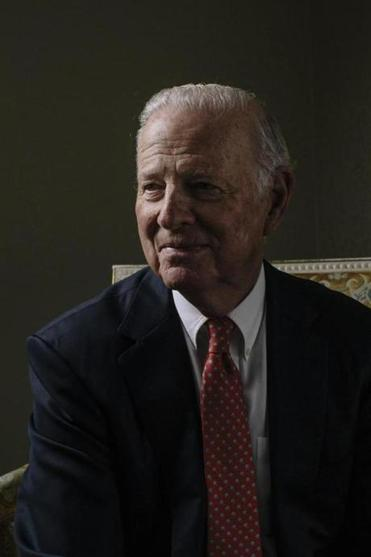 "James Baker, a former secretary of State in the first Bush administration, in Washington, Feb. 7, 2017. Baker and other Republican elders statesmen are lending their voice to calls for a tax on carbon pollution from fossil fuels. ""I don't accept the idea that it's all man made,"" he said, ""but I do accept that the risks are sufficiently great that we need to have an insurance policy."" (Lexey Swall/The New York Times)"