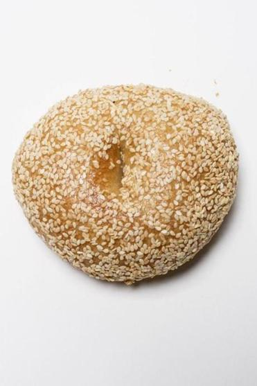 A sesame seed bagel from Exodus Bagels in Jamaica Plain.