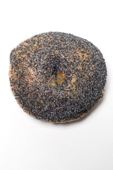 Boston, MA - 2/22/2017 - A poppy seed bagel from Exodus Bagels in Jamaica Plain sits in a studio in Boston, MA, February 22, 2017. (Keith Bedford/Globe Staff)