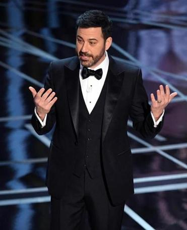 Host Jimmy Kimmel onstage during the 89th Annual Academy Awards in Hollywood, Calif.