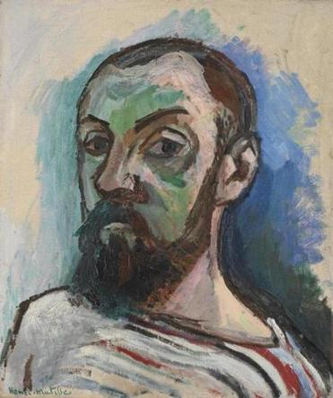 Self-portrait of Henri Matisse, 1906, oil on canvas.