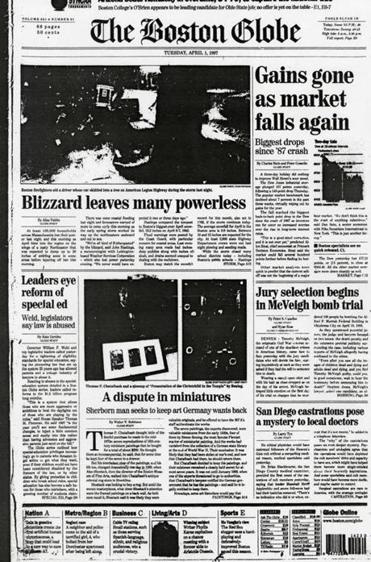 The front page on April 1, 1997.