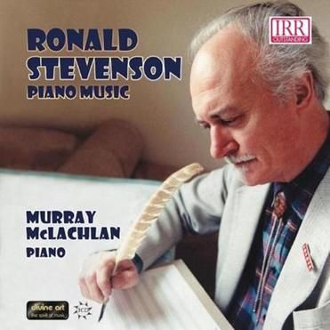 The cover of one of British composer Ronald Stevenson's albums.