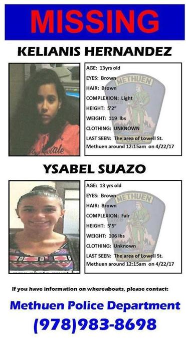 Missing 13 Year Old Boy: Two 13-year-old Girls Reported Missing In Methuen