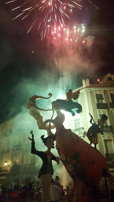 Fireworks kick off the start of La Crema, the last night of Las Fallas, in Valencia.