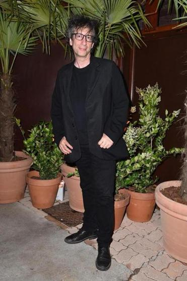 Neil Gaiman in Cannes, France, for the 70th Cannes Film Festival.