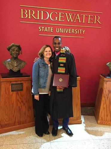 04zobeckham - Cheryl Opper and Lorenz Marcellus at graduation from Bridgewater State University on May 13. ()