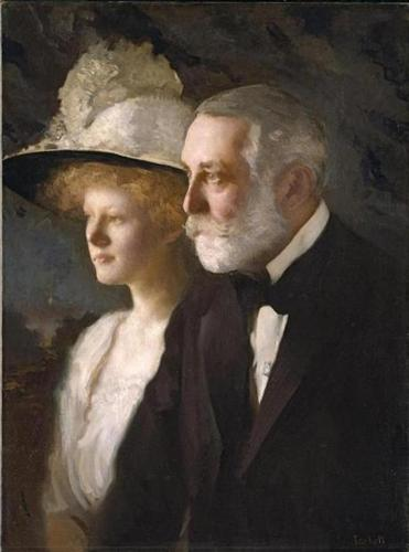Henry Clay Frick and Helen Frick, 1910, artist: Edmund C. Tarbell, National Portrait Gallery