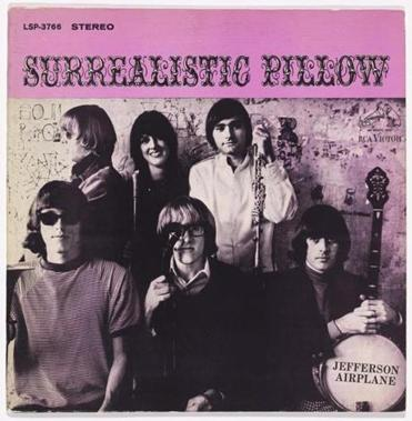 "Jefferson Airplane's offset lithograph album cover for its 1967 ""Surrealistic Pillow,"" with photo by Herb Greene."