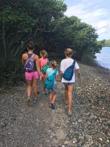 The Crosby girls explored St. John.