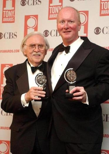 Mr. Meehan (left) wrote books for three of the most successful Broadway musicals.