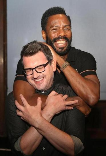 """A Guide for the Homesick"" playwright Ken Urban (left) and director Colman Domingo."