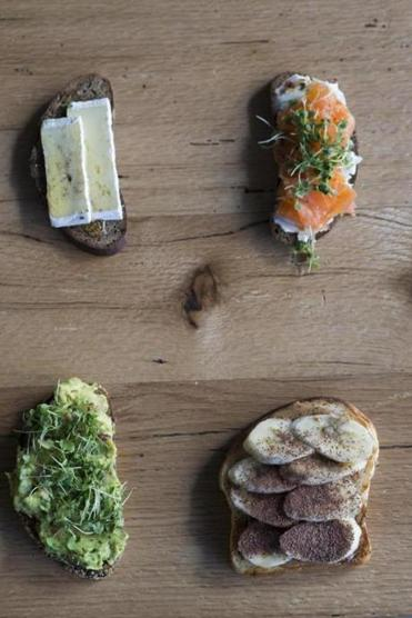 Intrepid Cafe offers a selection of toast elevated with an array of inventive toppings.