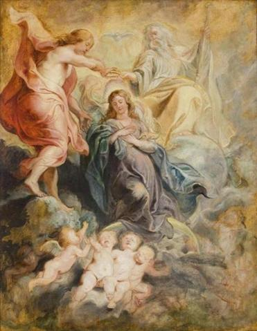 """Coronation of the Virgin"" by Peter Paul Rubens, from the Susan and Matthew Weatherbie Collection"