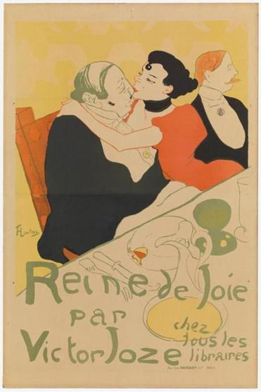 "Henri de Toulouse-Lautrec's ""Reine de joie (Queen of Joy)"" is among the works in ""The Paris of Toulouse-Lautrec: Prints and Posters From the Museum of Modern Art,"" at the Currier Museum of Art in Manchester, N.H., through Jan. 7."