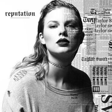 "Taylor Swift's album cover ""reputation."""