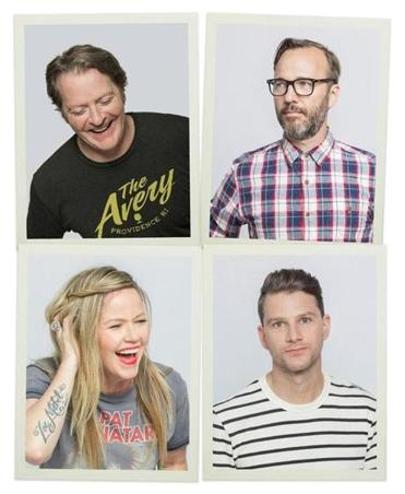 After a reunion last year, Letters to Cleo members (clockwise from bottom left) Kay Hanley, Greg McKenna, Michael Eisenstein, and Stacy Jones are assembling again for a three-night stand in town.