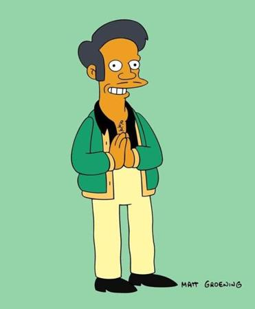 The character of Apu Nahasapeemapetilon from 'The Simpsons.'