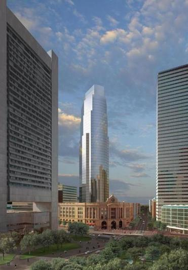 Hines and TUDC LLC are developing a 1.8 million square foot tower and office, hotel, and residential complex over South Station designed by Cesar Pelli & Associates Inc. Illustration/ Payne Rowlett credit Payne Rowlett Library Tag 06292006 Business Library Tag 03032007 Real Estate