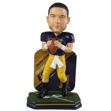 The National Bobblehead Hall of Fame and Museum has unveiled a Julian Edelman bobblehead in the uniform of his alma mater, the Kent State Golden Flashes.