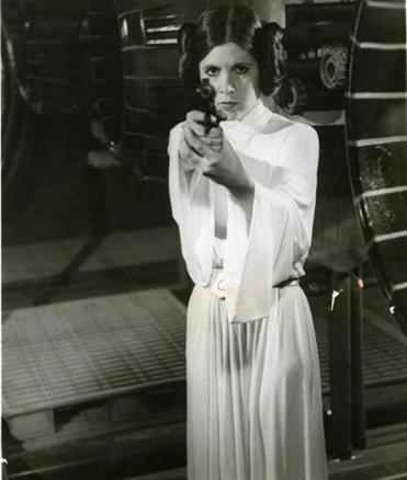 "Carrie Fisher first appeared as Princess Leia forty years ago in ""Star Wars: Episode IV — A New Hope."""