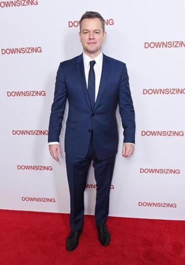 "Matt Damon attended the New York screening of ""Downsizing"" earlier this week at AMC Lincoln Square Theater."