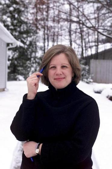 Janet Elder during her coverage of the presidential primary in 2000, in Manchester, N.H.