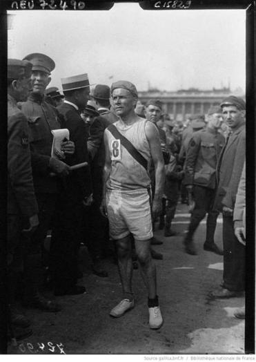 Bill Kennedy after the Chateau Thierry relay race in 1919.