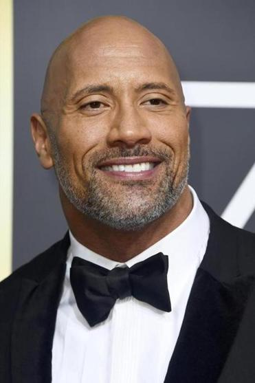 Dwayne Johnson attended the Golden Globes.