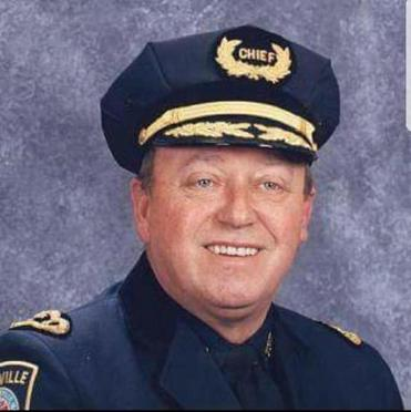 Mr. Merrick's career began in Brookline and ended in Plainville as police chief.
