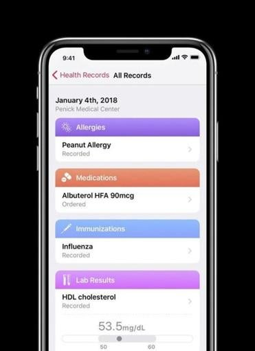 A new health records feature called Apple Health will allow iPhone users to transfer certain medical data directly to their iPhones from participating medical providers.