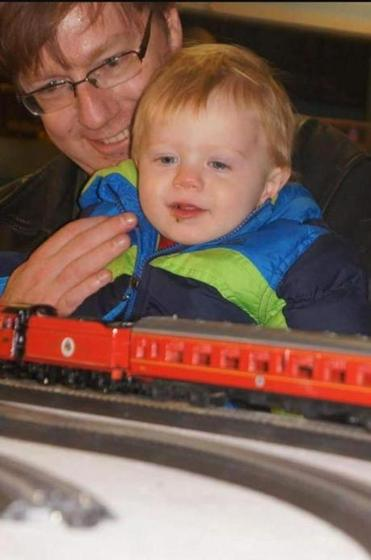Ed Lorenzen, 47, with his son, Michael. Both were killed in a Rhode Island fire on Friday.