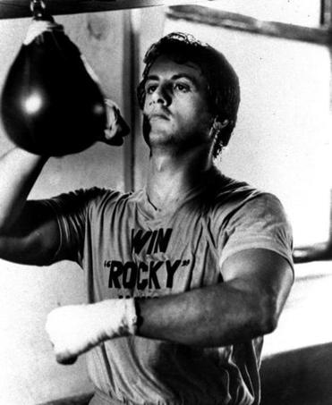 "Sylvester Stallone in ""Rocky."""