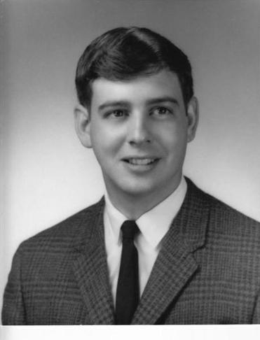 Yearbook photo of Bruce R. Bartlett.
