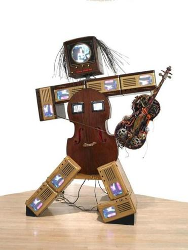 "Nam June Paik's ""Charlotte Moorman II"" is in ""Before Projection."" """